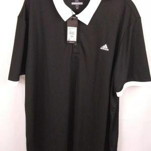 New Men's size 2XL Adidas Golf Polo Black Shirt